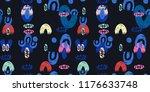 abstract hipster illustration... | Shutterstock . vector #1176633748