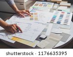 architect designer interior... | Shutterstock . vector #1176635395