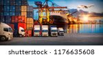 logistics and transportation of ... | Shutterstock . vector #1176635608