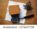 traditional norwegian brown... | Shutterstock . vector #1176637738