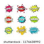 comic speach bubble effect set... | Shutterstock . vector #1176638992