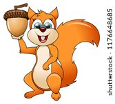 cartoon funny squirrel isolated ... | Shutterstock .eps vector #1176648685
