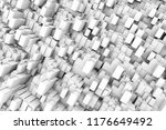 hi tech structure of white... | Shutterstock . vector #1176649492