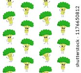 broccoli  vector seamless... | Shutterstock .eps vector #1176650812