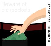big hand steal money from... | Shutterstock .eps vector #1176656335
