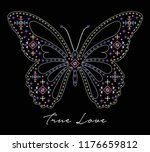 butterfly graphic for t shirt | Shutterstock .eps vector #1176659812