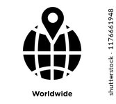worldwide icon vector isolated... | Shutterstock .eps vector #1176661948