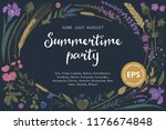 summertime party. summer night. ... | Shutterstock .eps vector #1176674848