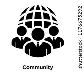 community icon vector isolated... | Shutterstock .eps vector #1176675292