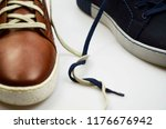 male brown and blue leather... | Shutterstock . vector #1176676942