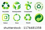 reduce reuse recycle concept....   Shutterstock .eps vector #1176681358