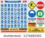 mandatory signs  construction... | Shutterstock .eps vector #1176682402