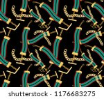 gold chain color pattern | Shutterstock . vector #1176683275