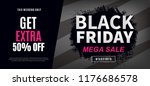 black friday sale web banner... | Shutterstock .eps vector #1176686578