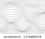 warped gray stripes.wavy curved ...   Shutterstock . vector #1176689218
