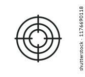 aim vector icon | Shutterstock .eps vector #1176690118