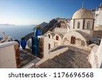 thira  santorini. image of...   Shutterstock . vector #1176696568