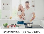 two nice adorable positive...   Shutterstock . vector #1176701392