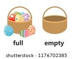 opposite full and empty vector...   Shutterstock .eps vector #1176702385