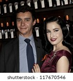 NEW YORK - OCTOBER 15: DITA VON TEESE AND ALFRED COINTREAU CELEBRATE COCKTAIL COUTURE AT LA MAISON COINTREAU DEBUTS on October 15, 2012 in NEW YORK CITY - stock photo