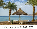 morning view on sandy beach and ... | Shutterstock . vector #117671878