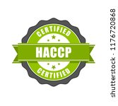 haccp certified   quality... | Shutterstock .eps vector #1176720868