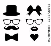 Vector Set Of Hipster Mustache...