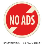 no ads sign icon for multimedia ... | Shutterstock .eps vector #1176721015