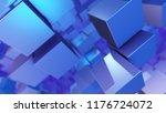 an optical art 3d illustration... | Shutterstock . vector #1176724072