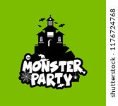 monster party design with... | Shutterstock .eps vector #1176724768