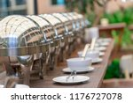 chafing dish heaters at the...   Shutterstock . vector #1176727078