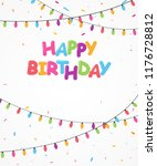 happy birthday banner with... | Shutterstock .eps vector #1176728812