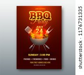 barbecue poster  flyer ... | Shutterstock .eps vector #1176731335