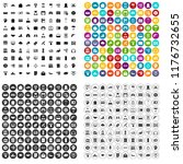 100 lending icons set in 4... | Shutterstock . vector #1176732655