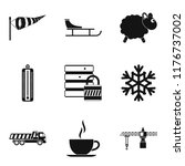 homelike atmosphere icons set.... | Shutterstock . vector #1176737002