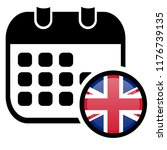british flag and calender icon