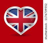british flag and heart symbol