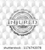 injured realistic grey emblem... | Shutterstock .eps vector #1176742078