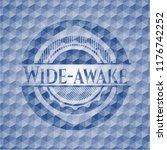 wide awake blue emblem with... | Shutterstock .eps vector #1176742252