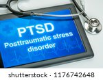 tablet with the text ptsd the... | Shutterstock . vector #1176742648