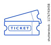 ticket icon. vector illustration | Shutterstock .eps vector #1176743458