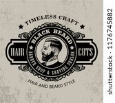 vintage barbershop logo | Shutterstock .eps vector #1176745882