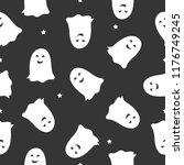 a seamless halloween pattern...   Shutterstock .eps vector #1176749245