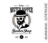 hand drawing barbershop logo | Shutterstock .eps vector #1176751132
