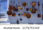 bags and leather poufs in a... | Shutterstock . vector #1176751165