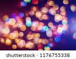 abstract blurred of blue and... | Shutterstock . vector #1176755338