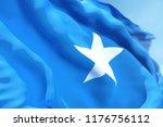 somalia flag waving on a high... | Shutterstock . vector #1176756112