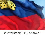liechtenstein flag waving on a...   Shutterstock . vector #1176756352