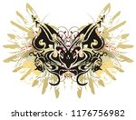 tribal butterfly with eagle...   Shutterstock .eps vector #1176756982