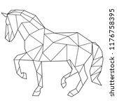 horse polygonal drawing | Shutterstock . vector #1176758395